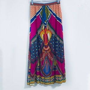 Flying tomato long FLOWING skirt pink blue small hippie boho Bollywood Tribal